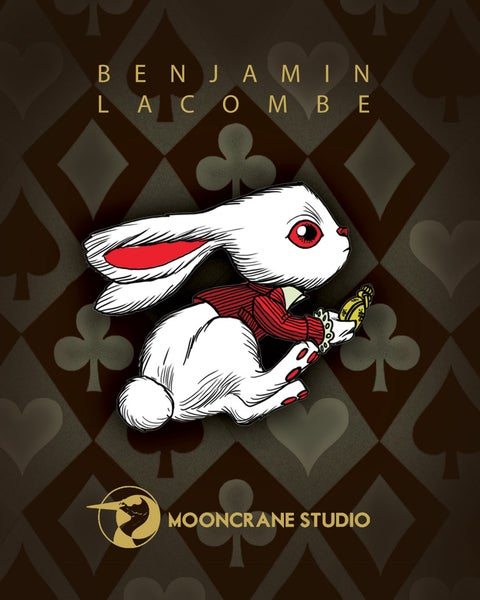 Image of Always Late Enamel Pin by Benjamin Lacombe
