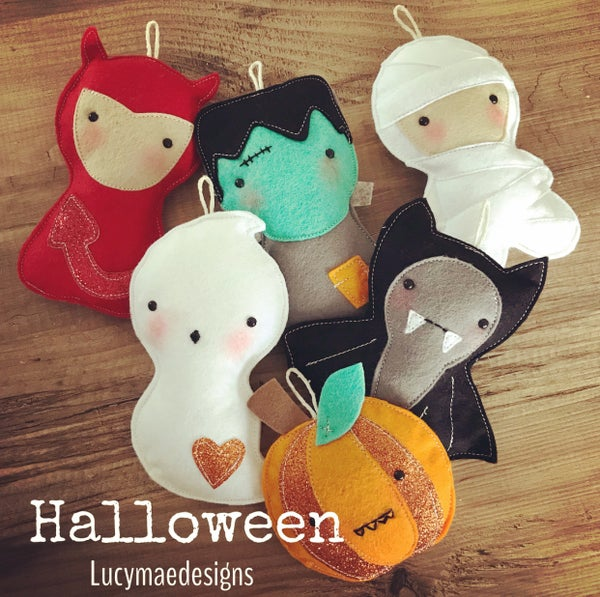 Image of Halloween Felt Decorations