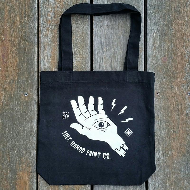 Image of Black All Seeing Eye Tote Bag