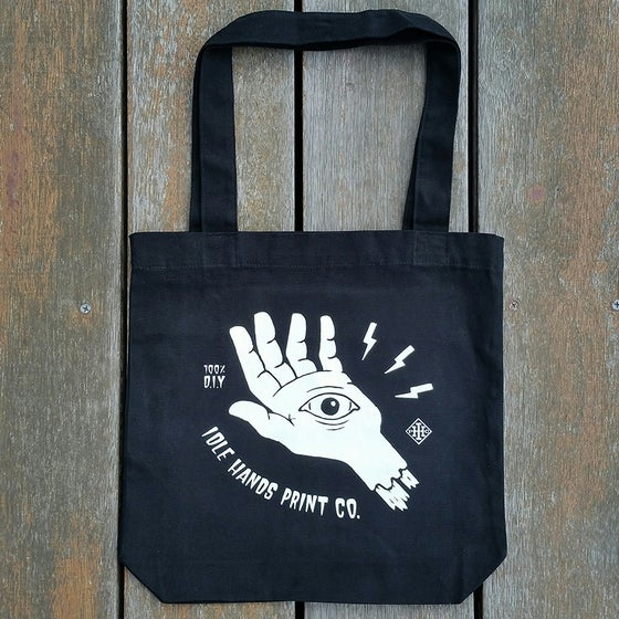 Image of Black All Seeing Eye Tote Bag