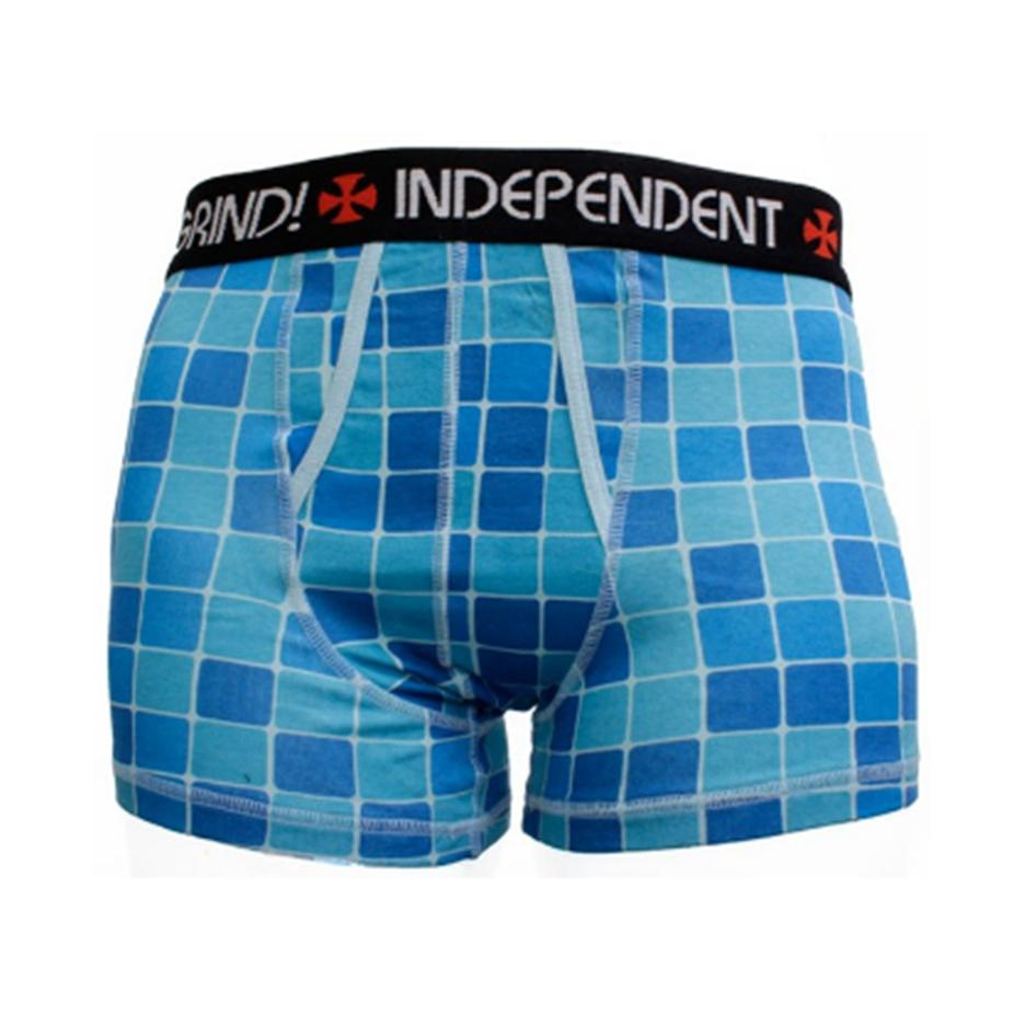 Image of INDEPENDENT DEEP END BLUE BOXER SHORTS