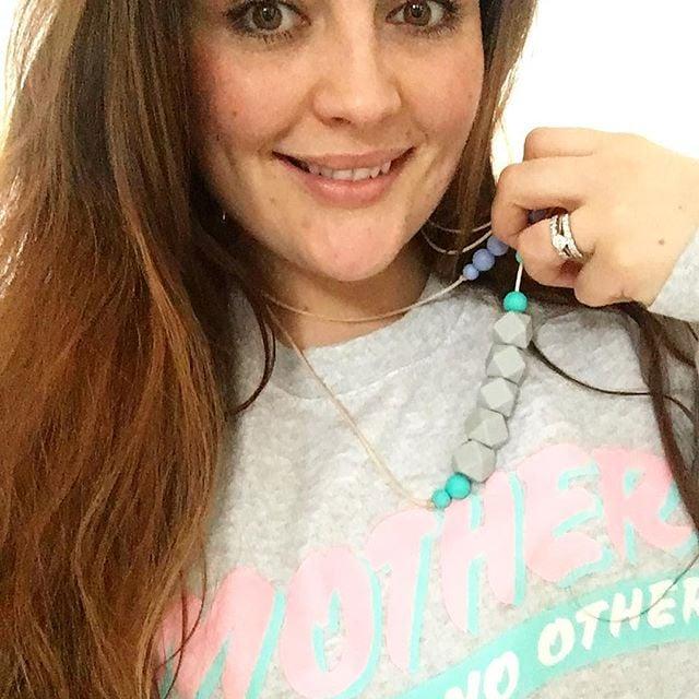 Image of Buddleja teething necklace