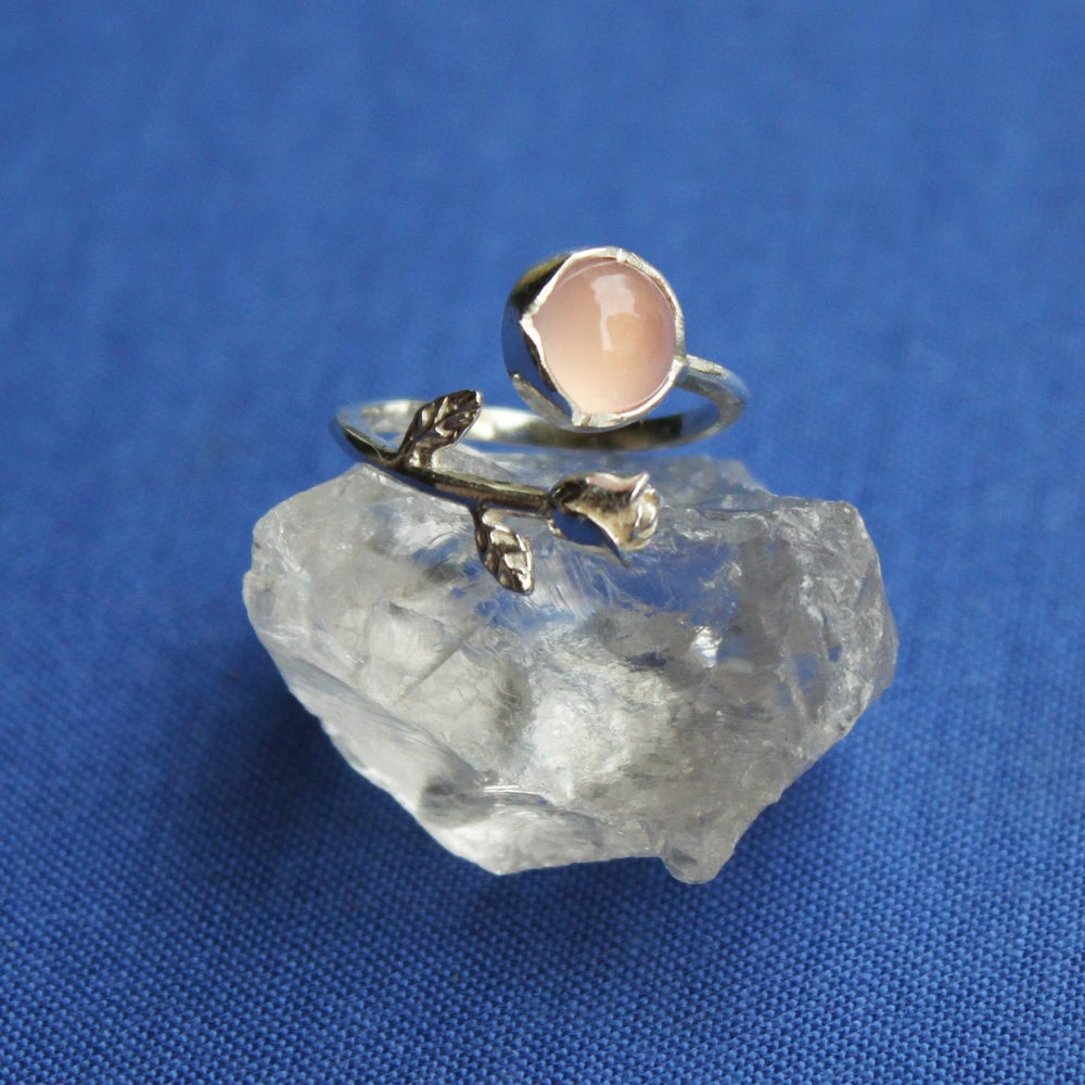 Image of ROSA x Pink Chalcedony ring