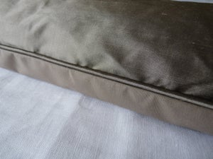 Image of Gorgeous Taupe Smooth Silk Eiderdown
