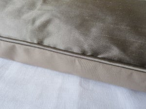 Image of Stunning Zinc Smooth Silk Eiderdown