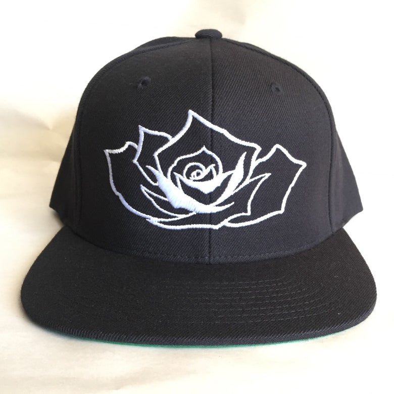 Image of White rose SnapBack hat
