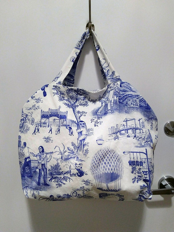 Image of Chinatown toile oversized tote