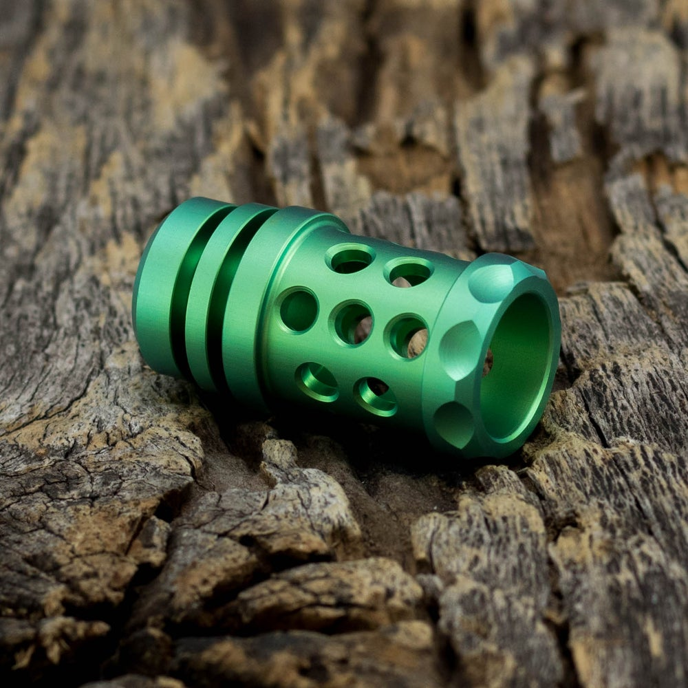 Image of Barrel Muzzle Brake Bead - Satin Green