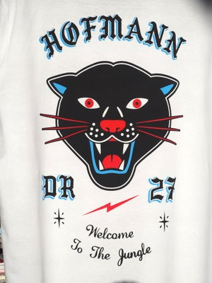 "Image of ""WELCOME TO THE JUNGLE PANTHER"" - Organic cotton - White"