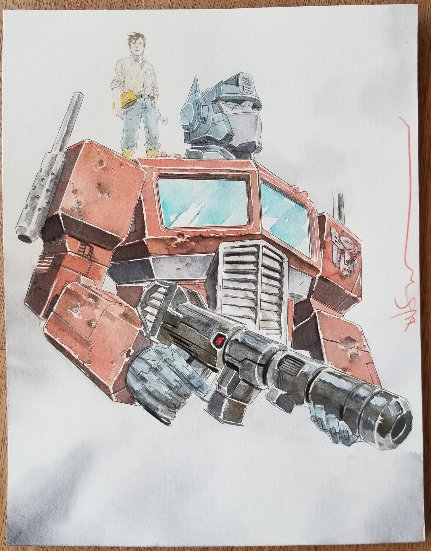 Image of Optimus and Spike