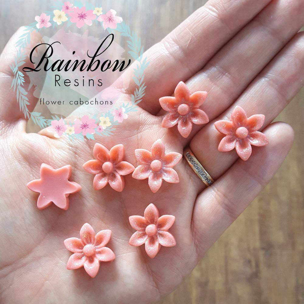 Image of Salmon/dusky pink sparkly oriental lillies x 10
