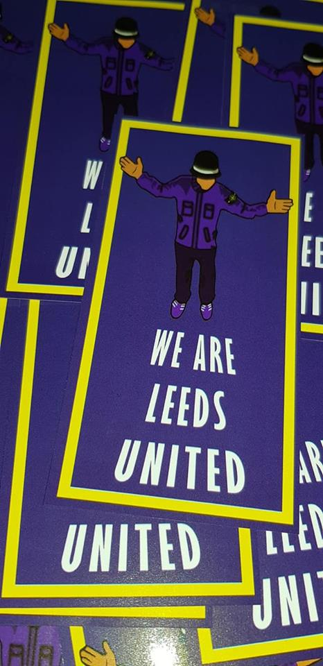 Image of We are Leeds United Football/Ultras/Casuals/Hooligans 10x5cm Stickers Pack of 25