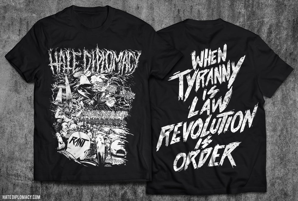 "Image of Hate Diplomacy - ""RANT"" Album T-Shirt"