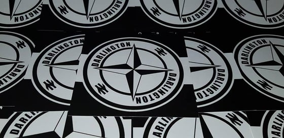 Image of Darlington FC Football/Ultras/Casuals/Hooligans 10x10cm Stickers Pack of 25
