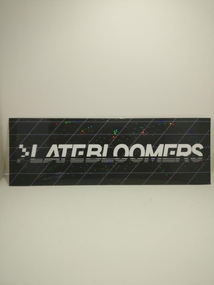 Image of Grid Logo | w/Vinyl Pixel Holo Laminate