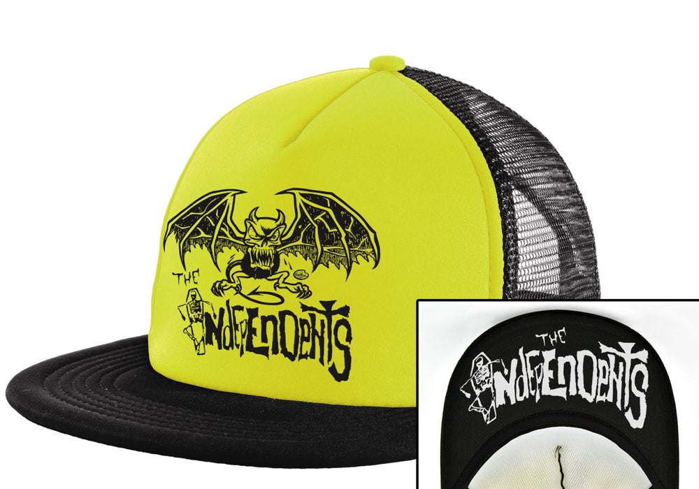 Image of The Independents Gargoyle-Trucker Hat Green