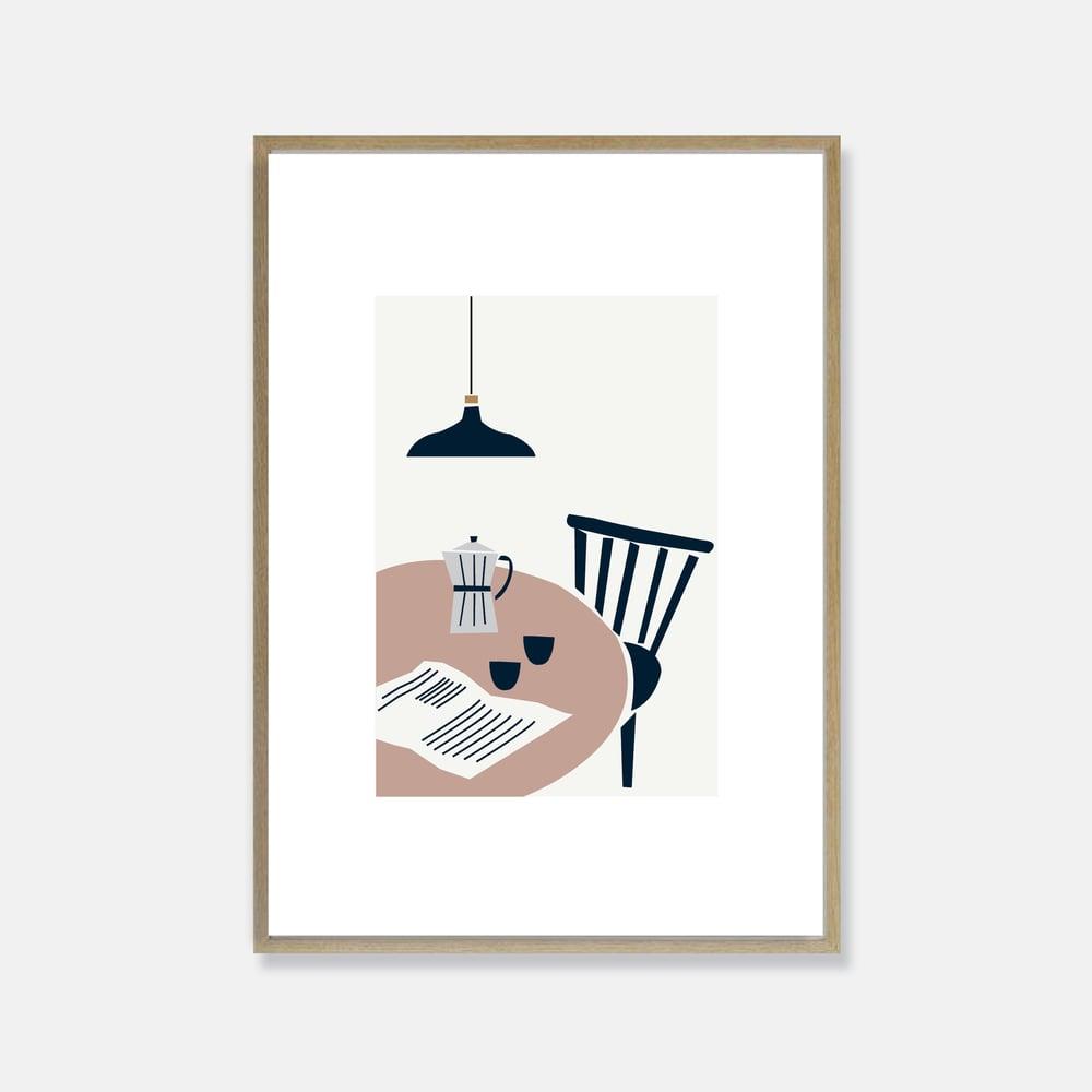 Image of Café print