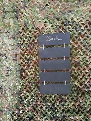 5-section chalkboard