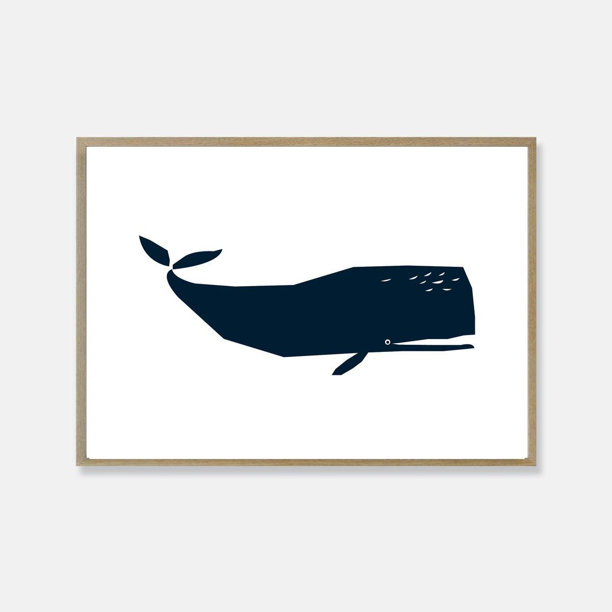 Image of Baleine print