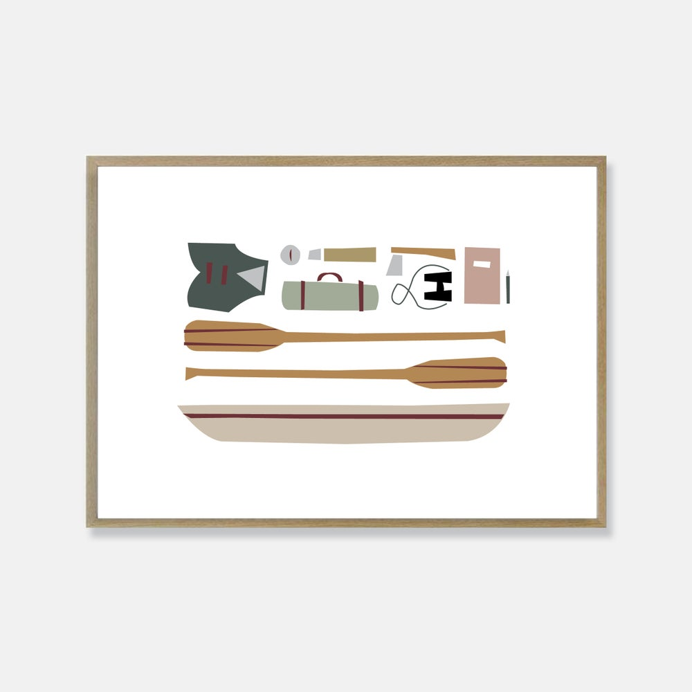 Image of Canoe print
