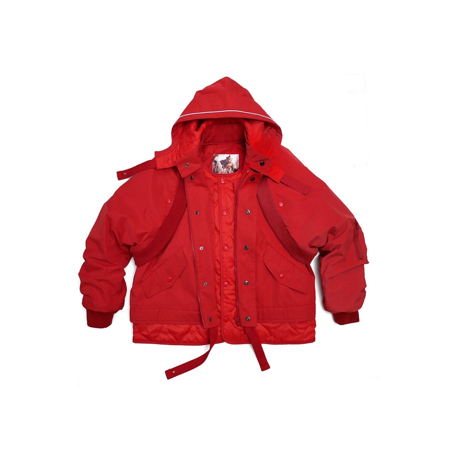 Image of (A)crypsis 2018A/W 'Souls of Mischief' 3-WAY JACKET RED
