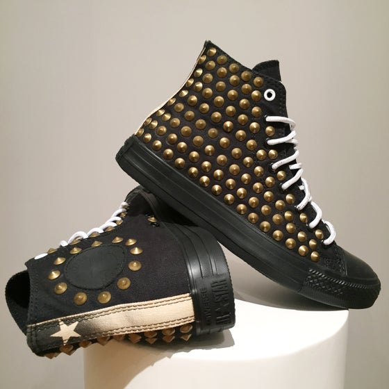 Image of Converse All Star Monochrome - Brass Studs.