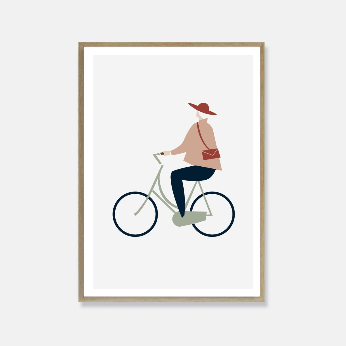Image of Cycling lady print