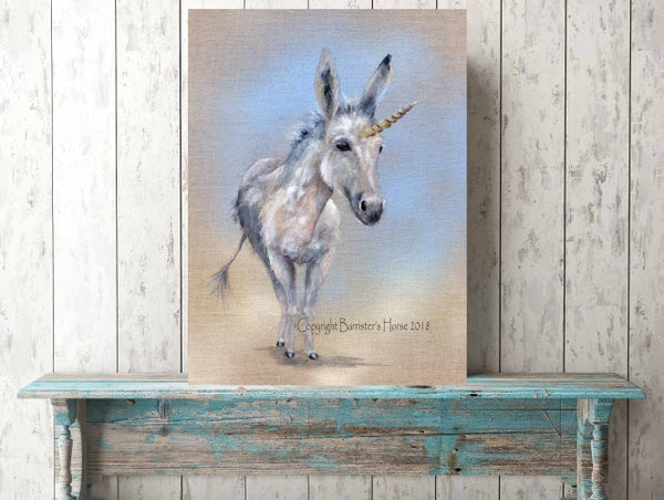 Image of LITTLE UNICORN DONKEY, FINE ART PRINTS