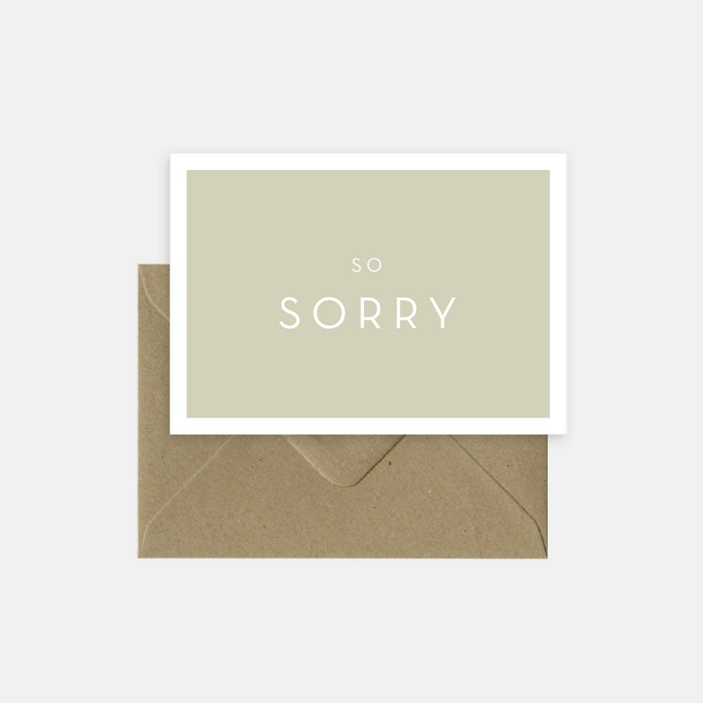 Image of So sorry