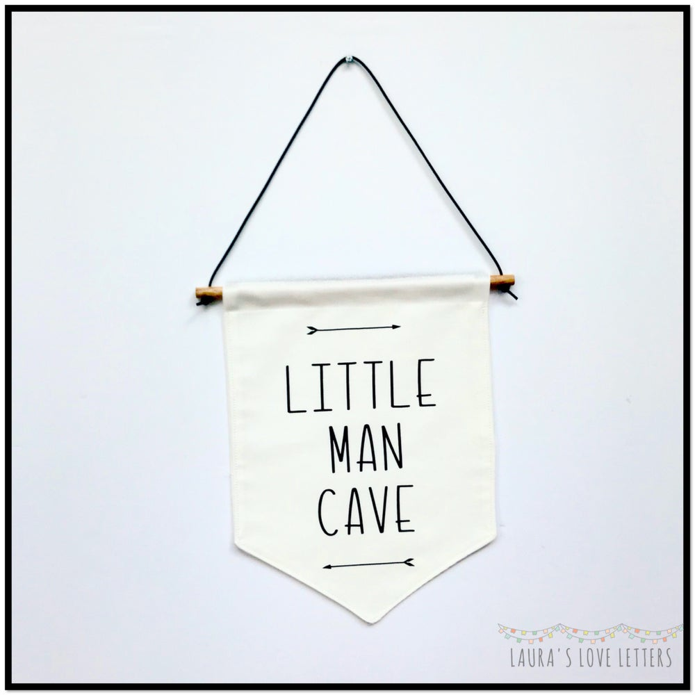 Image of LITTLE MAN CAVE BANNER FLAG