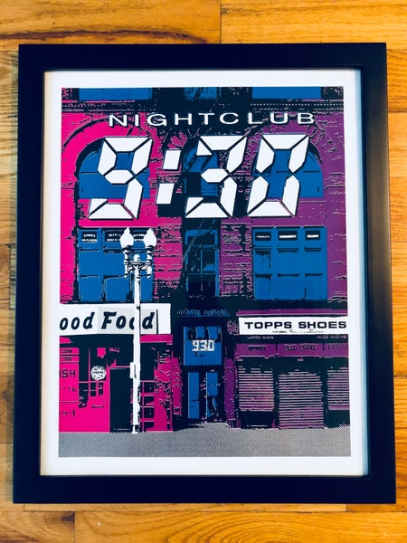 Image of Nightclub 9:30 Silk Screened Art Print, Version 2
