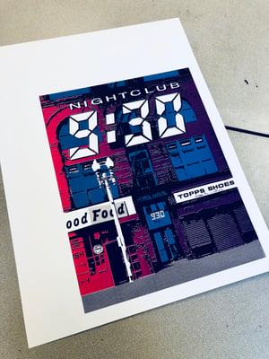 Image of Nightclub 9:30 Silk Screened Art Print, Version 2