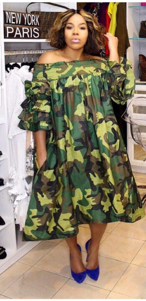Image of Camouflage dress