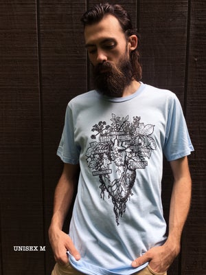 Image of HERBAL HEART T-SHIRT [organic cotton]