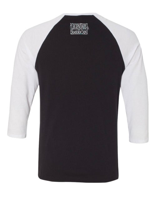 Image of Legendary American American Punisher Raglan Black and White