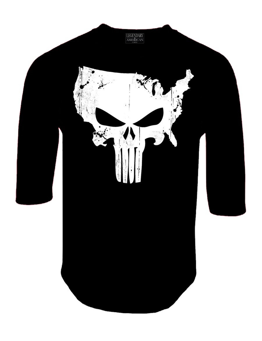 Image of Legendary American American Punisher Raglan Black