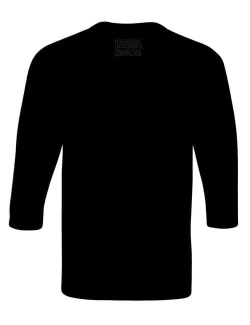 Image of Legendary American American Punisher Raglan Black on Black