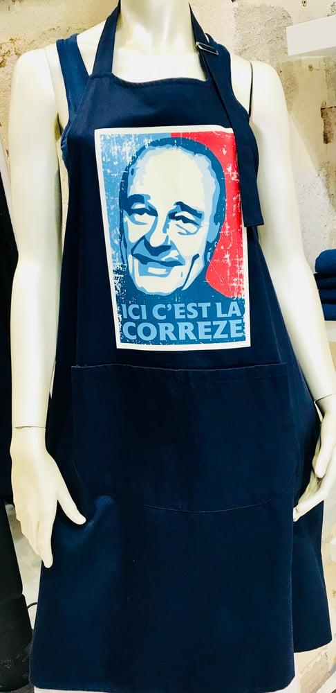 Image of Tablier Chirac Bleu Blanc Rouge Bleu Marine