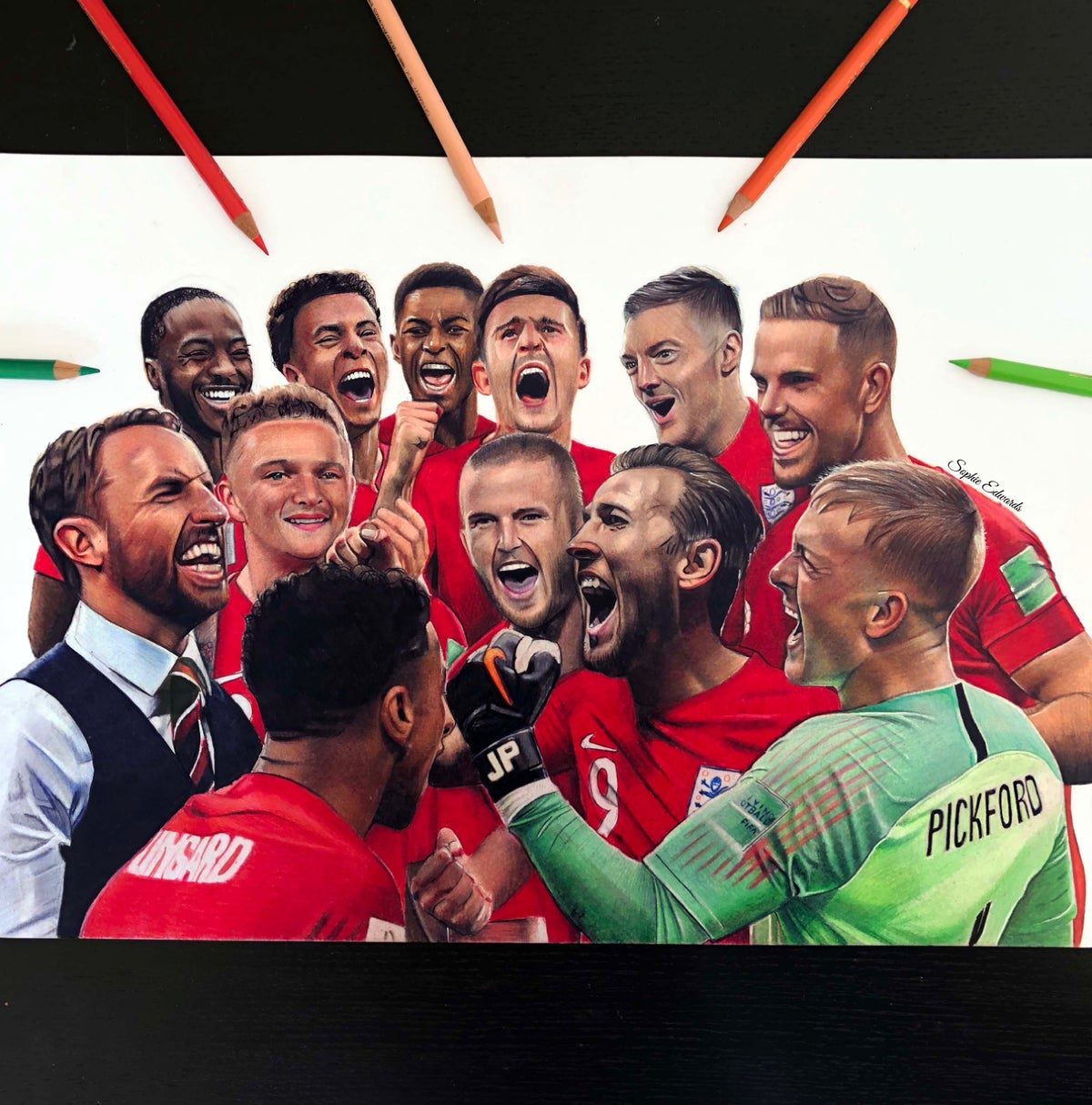 Image of England Team Print (Limited Edition)