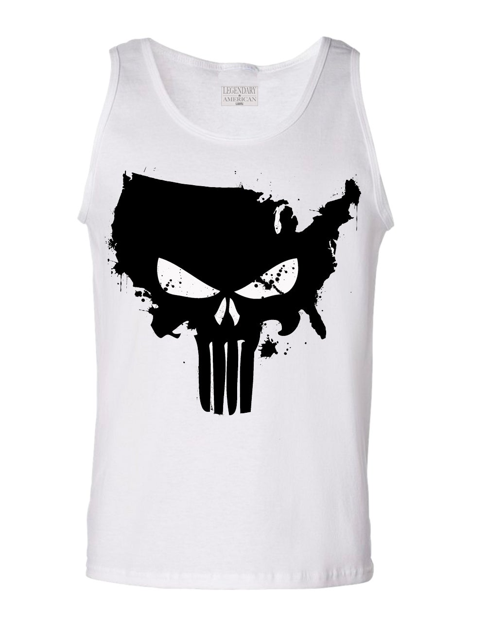 Image of Legendary American American Punisher Tank White
