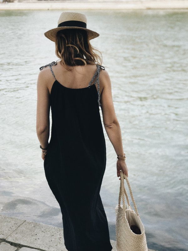 Robe Lucie noire - Maison Brunet Paris