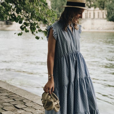 Robe Alice Bleue - Maison Brunet Paris