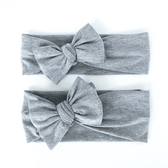 Image of heather grey // bow headband