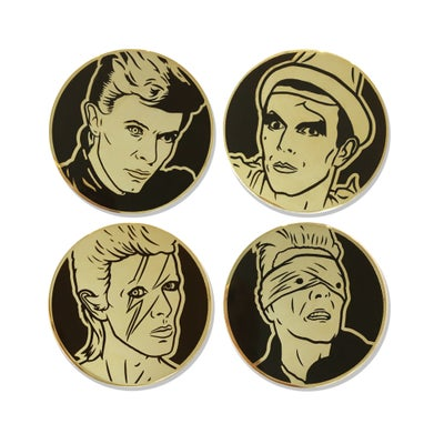 Image of Bowie Enamel 4-Pin Set