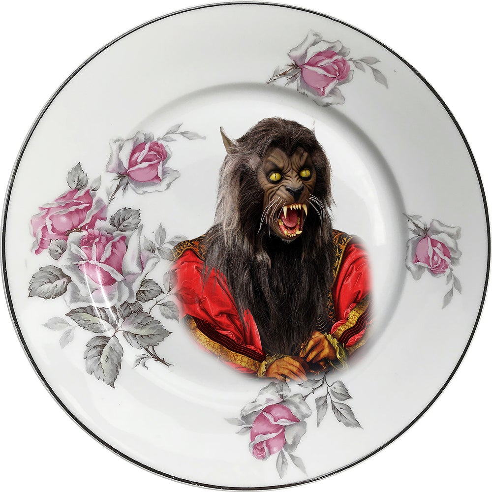 Image of Lord Wolf - Vintage Porcelain Plate - Limoges #0611