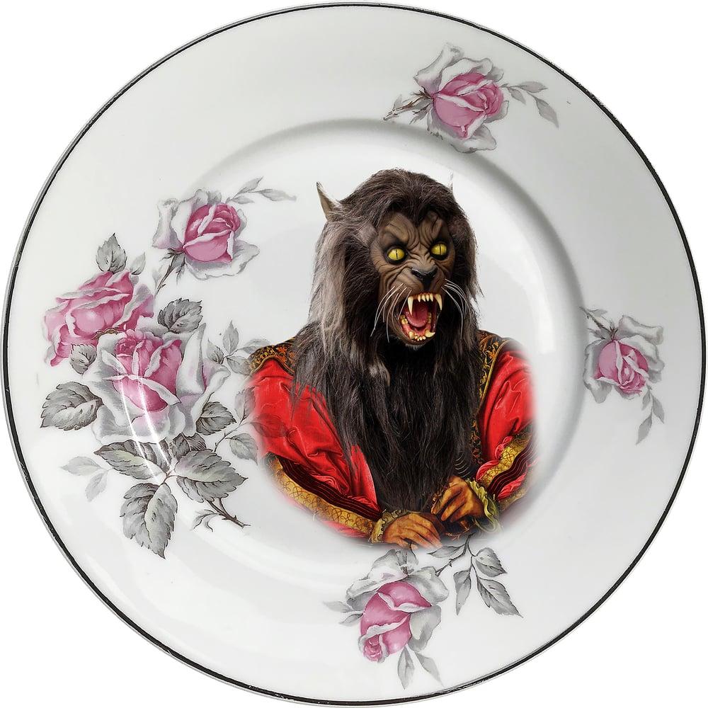 Image of Lord Wolf - Vintage Porcelain Plate - Limoges #0611