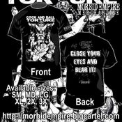 """Image of COCK AND BALL TORTURE """"Close Your Eyes and Bear it"""" T-shirt"""