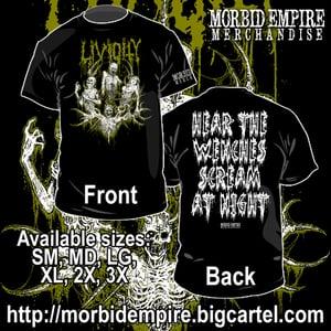 "Image of LIVIDITY ""Graveyard Delicacy"" (Riddick Art) T-shirt"