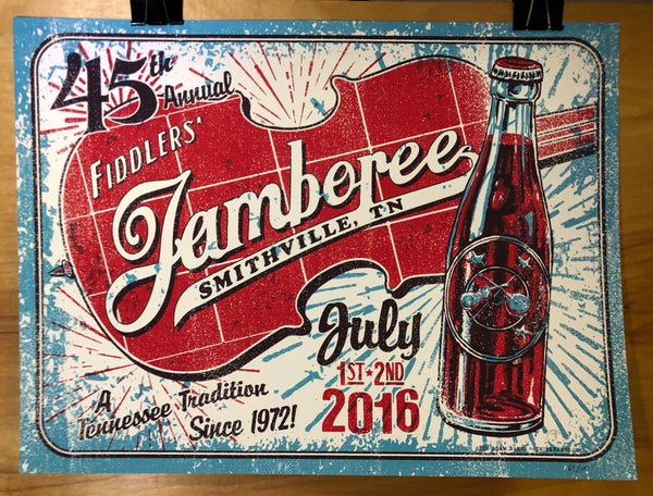 Image of Smithville Fiddlers' Jamboree - 45th Annual Official Poster 2016