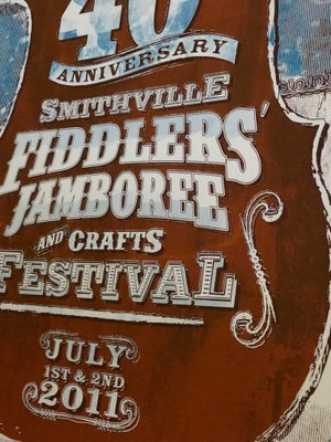 Image of Smithville Fiddlers' Jamboree - 40th Annual Official Poster 2011